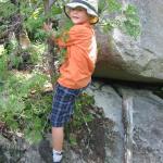 Kids hiking in Maine