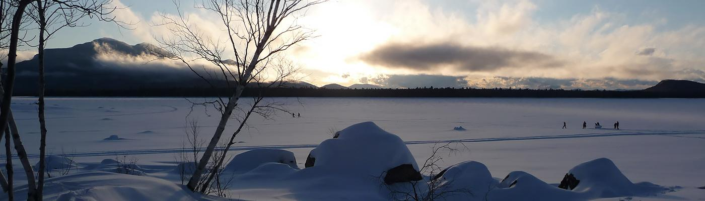 Frozen Flagstaff Lake