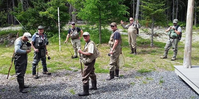 A group of fly fishermen