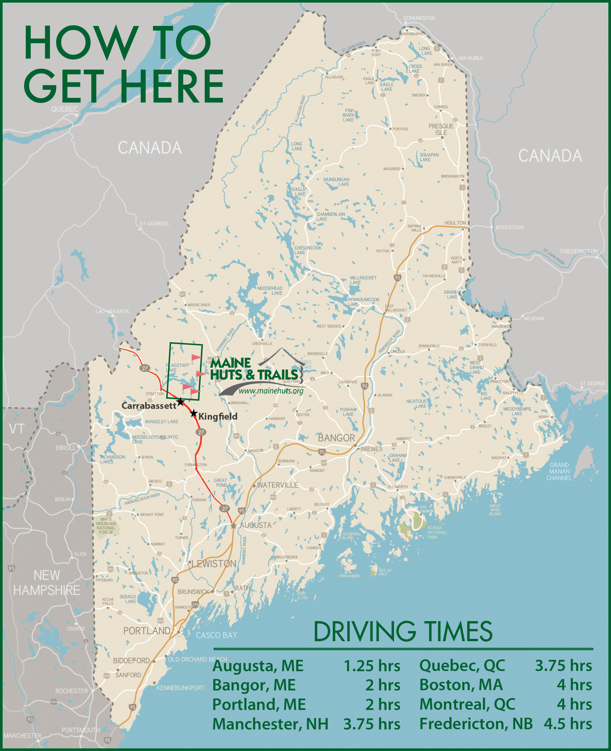 How to get to Maine Huts & Trails