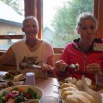 Dinner at Flagstaff Hut