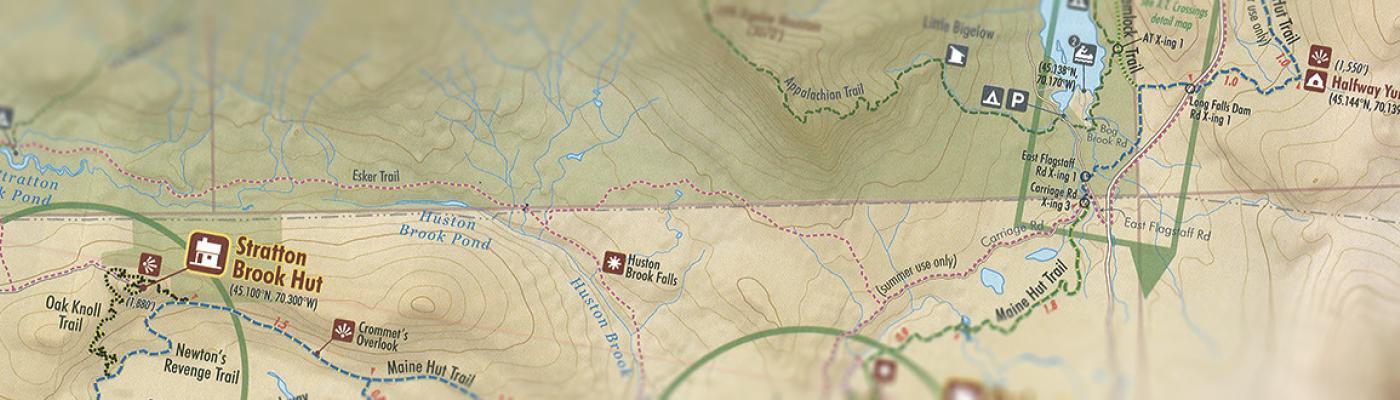 Maine Huts trail map closeup