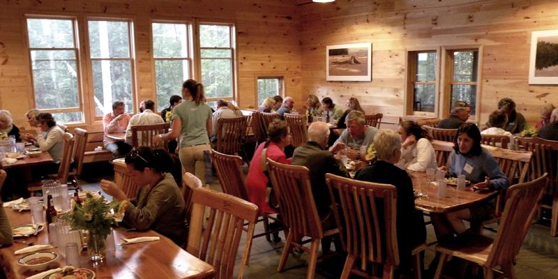 Dinner call at Flagstaff Hut