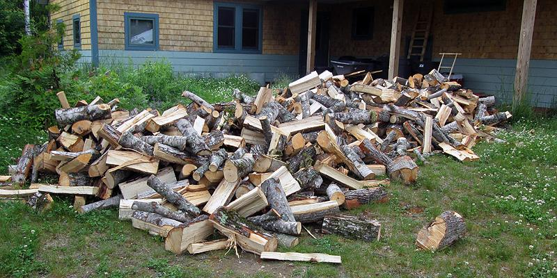 Firewood for heating the huts