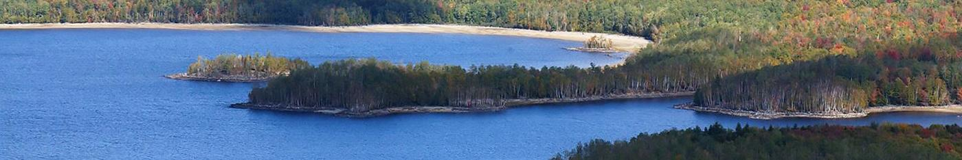 Flagstaff Lake aerial view